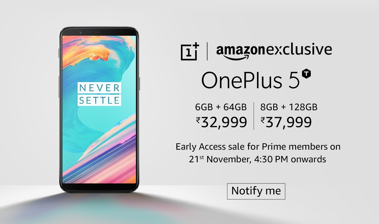 OnePlus 5T : Announcement, Details, Specification and Price in India